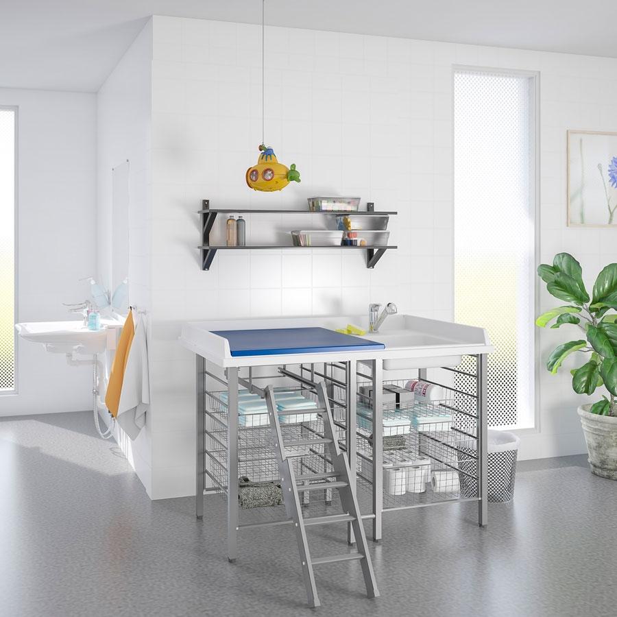 wickel u pflegetische granberg deutschland gmbh barrierefreie k che. Black Bedroom Furniture Sets. Home Design Ideas