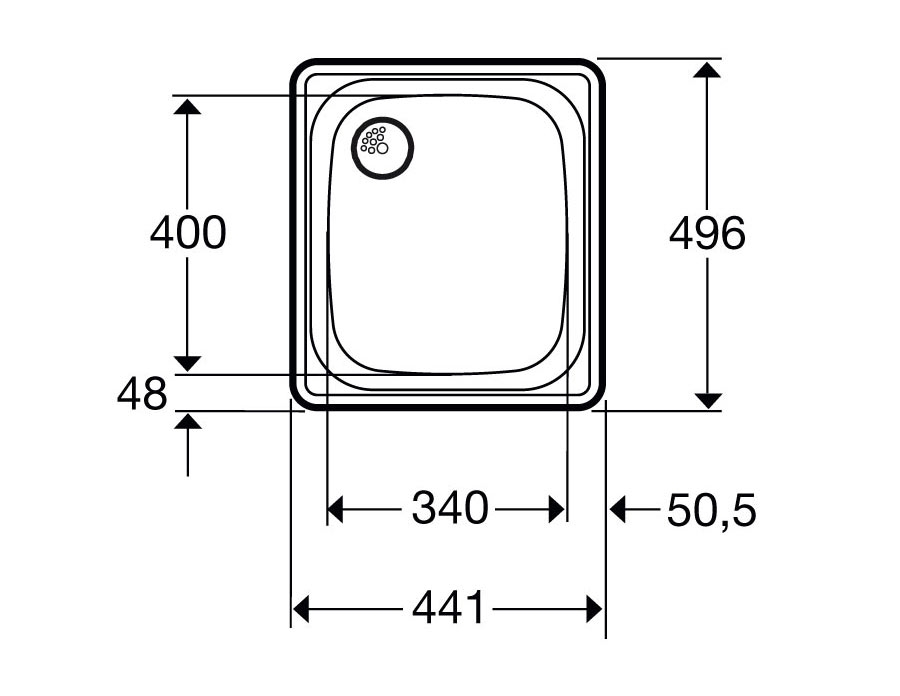 Evier acier inox cuve peu profonde granberg 435 eviers pmr eviers et mitigeurs ergonomiques for Penderie peu profonde